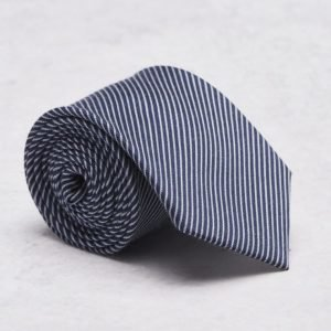 Castor Pollux Croatus Tie Navy Stripe