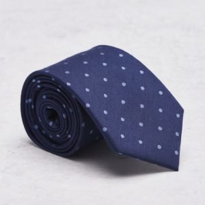 Castor Pollux Croatus Tie Navy/Light Blue Dots