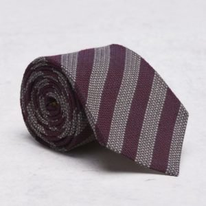 Castor Pollux Croatus Tie Red/Beige Striped