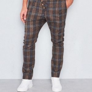 Castor Pollux Feulos Trousers Brown/Blue Check