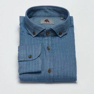 Castor Pollux Filipos Shirt Indigo Herringbone