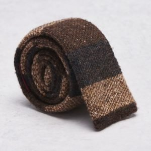 Castor Pollux Knitteus Tie Brown Knitted
