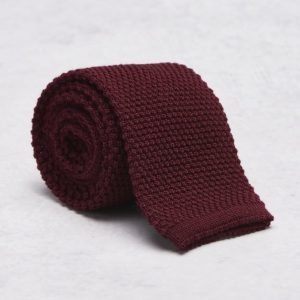 Castor Pollux Knitteus Tie Knitted Red