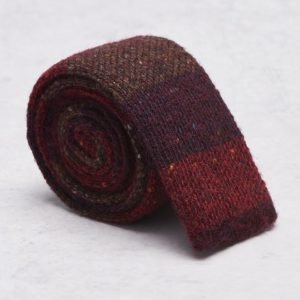 Castor Pollux Knitteus Tie Red Knitted