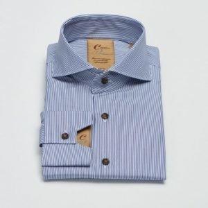 Castor Pollux Narcissus Shirt Navy/White Stripe