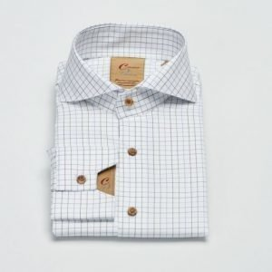 Castor Pollux Narcissus Shirt White Twill Check