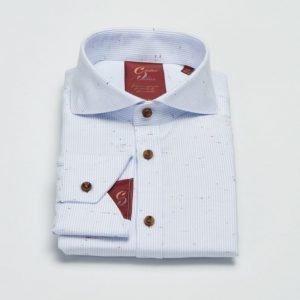 Castor Pollux Paros Shirt Blue Twill Striped