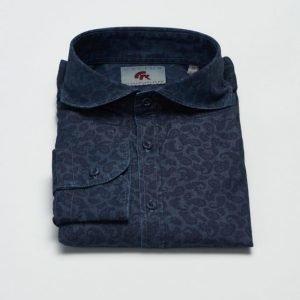 Castor Pollux Piros Shirt Indigo Print