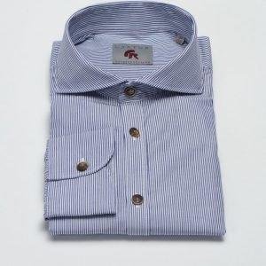 Castor Pollux Piros Shirt Navy/White Stripe
