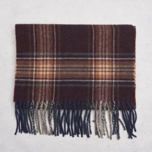 Castor Pollux Plaidus Scarf Red Check