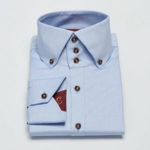 Castor Pollux Rex Shirt Blue Oxford