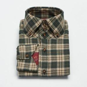Castor Pollux Rex Shirt Green Check Flannel