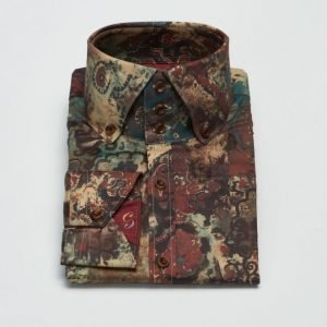 Castor Pollux Rex Shirt Printed Red Multicolour