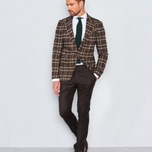 Castor Pollux Troy Blazer Brown/Green/Beige Check