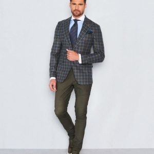 Castor Pollux Troy Blazer Green/Blue Check