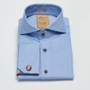 Castor Pollux arcissus Shirt Double Cuff Blue Micro Structure