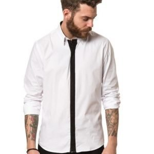 Cause & Consequence Erik Contrast Placket White