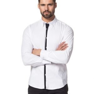 Cause & Consequence John Double Placket White