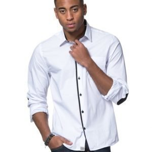 Cause & Consequence Mellin Contrast Shirt White