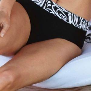 Cellbes Bikinihousut Valkoinen Musta