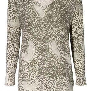 Cellbes Jumpperi Khakivihreä Leopardi