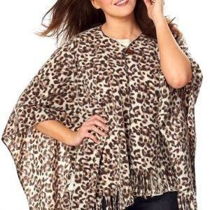 Cellbes Poncho Beige Leopardi