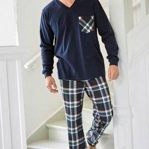 Cellbes Pyjama Laivastonsininen Ruudullinen