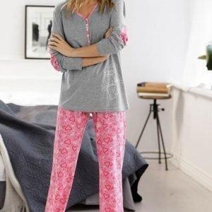 Cellbes Pyjama Roosa Kuvioitu