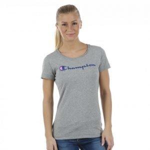 Champion Crewneck T-Shirt T-paita Harmaa