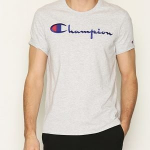 Champion Crewneck T-Shirt T-paita Light Grey
