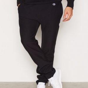 Champion Elastic Cuff Pants Housut New Black