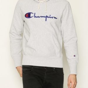 Champion Hooded Sweatshirt Pusero Light Grey