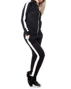 Charlie Retro Jog Suit Black