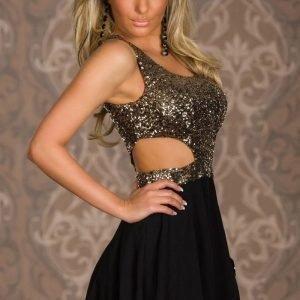 Charlotte kultainen mekko