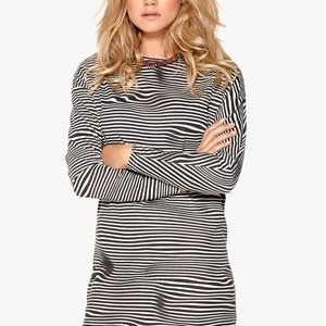 Cheap Monday Assy Stripe Dress Liquid Dirty White