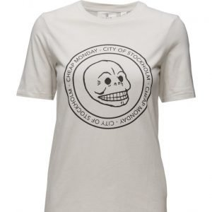 Cheap Monday Break Tee Cracked Skull