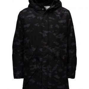 Cheap Monday Cage Camo Parka Simple Invader parkatakki