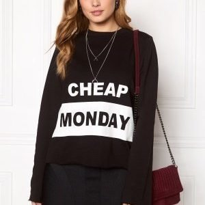 Cheap Monday Coach Block Logo Sweat Black