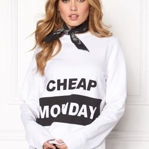 Cheap Monday Coach Block Logo Sweat White