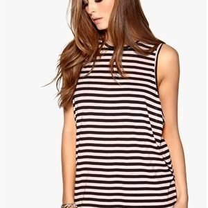 Cheap Monday Flow stripe tank Outlast Fanzine pink/Punk bl