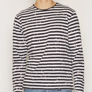 Cheap Monday Gazer LS Tee Bleach Stripe Pusero Shadow