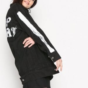 Cheap Monday Mega Jacket Action Farkkutakki Black
