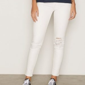 Cheap Monday Mid Spray Trashed Bright Skinny Farkut White