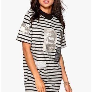 Cheap Monday On dress Patches Punk Black/Grey