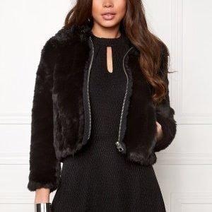 Cheap Monday Pace Fur Jacket Black