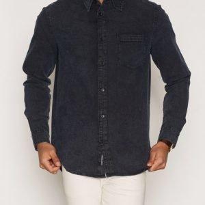 Cheap Monday Rude Denim Shirt Kauluspaita Black