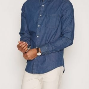 Cheap Monday Rude Denim Shirt Kauluspaita Blue