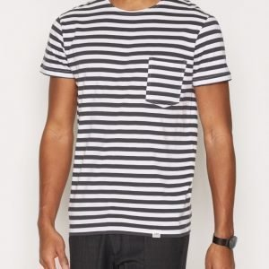 Cheap Monday Standard Prep Tee Narrow Stripe T-paita Shadow
