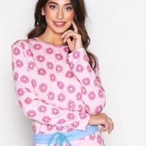 Chelsea Peers Dounut Pj Set Pyjamasetti Vaaleanpunainen
