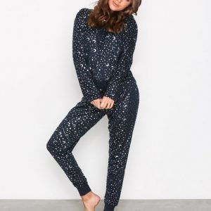 Chelsea Peers Night Sky Long Pj Set Yöpaita Navy
